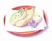 美食插图0080,美食插图,饮食,大盘子