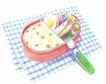 美食插图0096,美食插图,饮食,鸡蛋 千餐 叉子