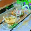 花草茶饮0047,花草茶饮,饮食,透明杯碟