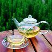花草茶饮0052,花草茶饮,饮食,透明的茶壶