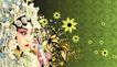 创意风暴专辑010010,创意风暴专辑01,创意风暴,侧脸 媚眼 花朵装饰