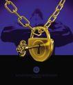 创意风暴专辑030085,创意风暴专辑03,创意风暴,钥匙 一把锁 金色锁链