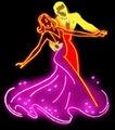 人物0010,人物,霓虹灯设计,交谊舞 宽大裙摆