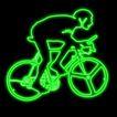 体育0002,体育,霓虹灯设计,绿色线条 自行车运动 车轮