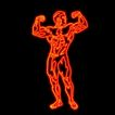 体育0007,体育,霓虹灯设计,健美比赛 强健身躯