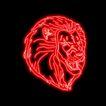 动物0013,动物,霓虹灯设计,狮子头