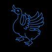 动物0049,动物,霓虹灯设计,家鹅 张开翅膀