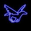 动物0053,动物,霓虹灯设计,飞马 扇动翅膀