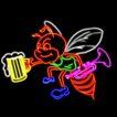 动物0054,动物,霓虹灯设计,蜜蜂 喇叭