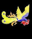 动物0060,动物,霓虹灯设计,凤凰 百鸟之王