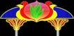 拱门0005,拱门,霓虹灯设计,对称图案