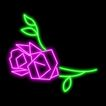 植物0015,植物,霓虹灯设计,一枝花
