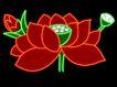 植物0017,植物,霓虹灯设计,