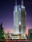 楼体0048,楼体,霓虹灯设计,大厦 夜晚