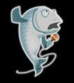 水产品0076,水产品,霓虹灯设计,一条鱼