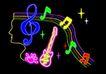 音乐0006,音乐,霓虹灯设计,