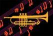 音乐0013,音乐,霓虹灯设计,号角