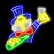 餐饮元素0008,餐饮元素,霓虹灯设计,干杯 啤酒瓶