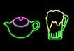 餐饮元素0014,餐饮元素,霓虹灯设计,