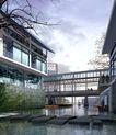 建筑效果图10176,建筑效果图1,建筑效果图,仿古 水景 天桥