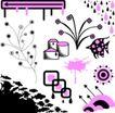 元素0009,元素,欧美花纹元素,紫色花纹 流星