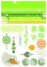 元素0014,元素,欧美花纹元素,淡绿色 圆环 彩图
