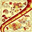 元素0025,元素,欧美花纹元素,彩色元素背景
