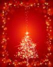 其他0007,其他,欧美花纹元素,星光 圣诞树 装饰灯