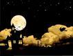 其他0008,其他,欧美花纹元素,夜晚 圆月 中秋