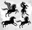 其他0009,其他,欧美花纹元素,马匹 飞马 天马