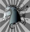 其他0018,其他,欧美花纹元素,马匹 动物头部
