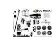 各类图案0028,各类图案,欧美花纹元素,房子 车辆 路灯