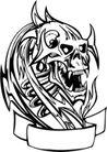 怪物骷髅0053,怪物骷髅,欧美花纹元素,
