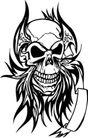 怪物骷髅0057,怪物骷髅,欧美花纹元素,