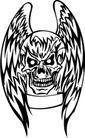 怪物骷髅0062,怪物骷髅,欧美花纹元素,骨骼 翅膀