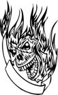 怪物骷髅0066,怪物骷髅,欧美花纹元素,头颅