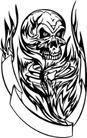 怪物骷髅0068,怪物骷髅,欧美花纹元素,骷髅