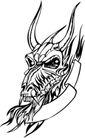怪物骷髅0073,怪物骷髅,欧美花纹元素,