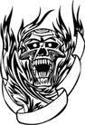 怪物骷髅0077,怪物骷髅,欧美花纹元素,