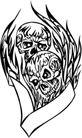 怪物骷髅0082,怪物骷髅,欧美花纹元素,