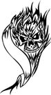 怪物骷髅0084,怪物骷髅,欧美花纹元素,
