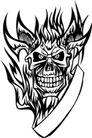 怪物骷髅0087,怪物骷髅,欧美花纹元素,