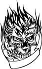 怪物骷髅0092,怪物骷髅,欧美花纹元素,
