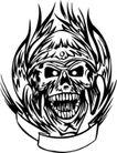 怪物骷髅0093,怪物骷髅,欧美花纹元素,