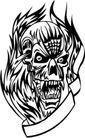 怪物骷髅0094,怪物骷髅,欧美花纹元素,