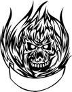 怪物骷髅0096,怪物骷髅,欧美花纹元素,