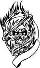 怪物骷髅0097,怪物骷髅,欧美花纹元素,