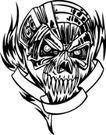怪物骷髅0098,怪物骷髅,欧美花纹元素,