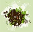 抽象0017,抽象,欧美花纹元素,音乐元素