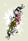抽象0030,抽象,欧美花纹元素,枝条 人影